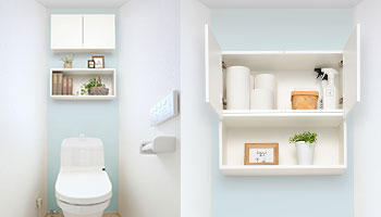 狭いトイレも上部空間を活かして、収納量アップ!「トイレ収納ラック」新発売